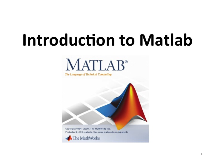 S1 - Introduction Matlab