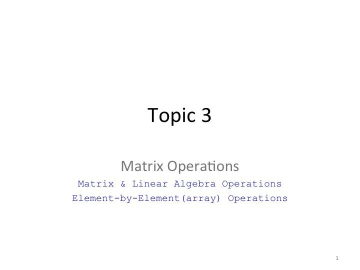 S4 - Matrix Operation