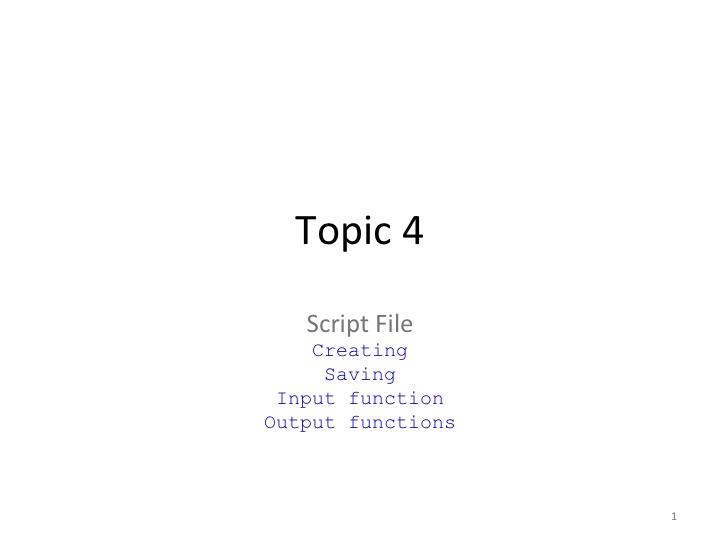 S5 - Script File