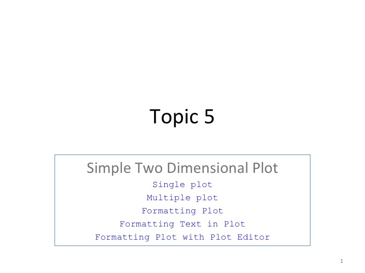 S6 - Two Dimensional Plot