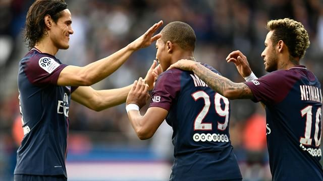 PSG hit Bordeaux for six as Neymar, Mbappe and Cavani run riot