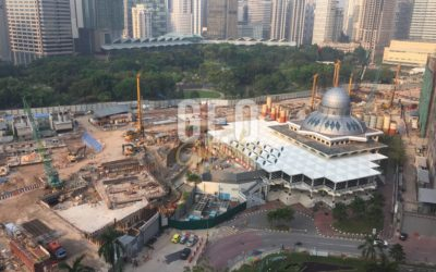 Construction site monitoring using UAV at Kuala Lumpur.