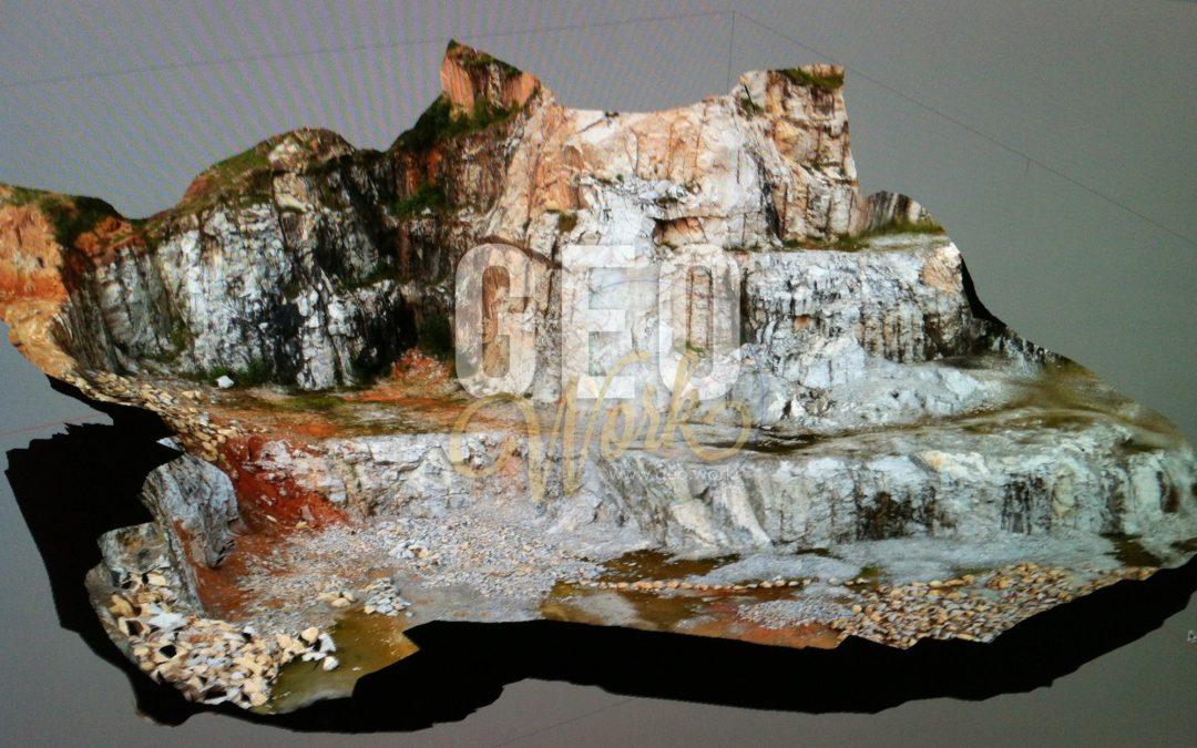 Quarry survey 3D model using photogrammetry sUAV scan at Kota Tinggi, Johor.