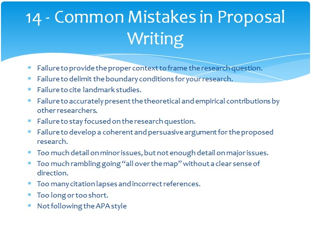 Research Proposal Writting