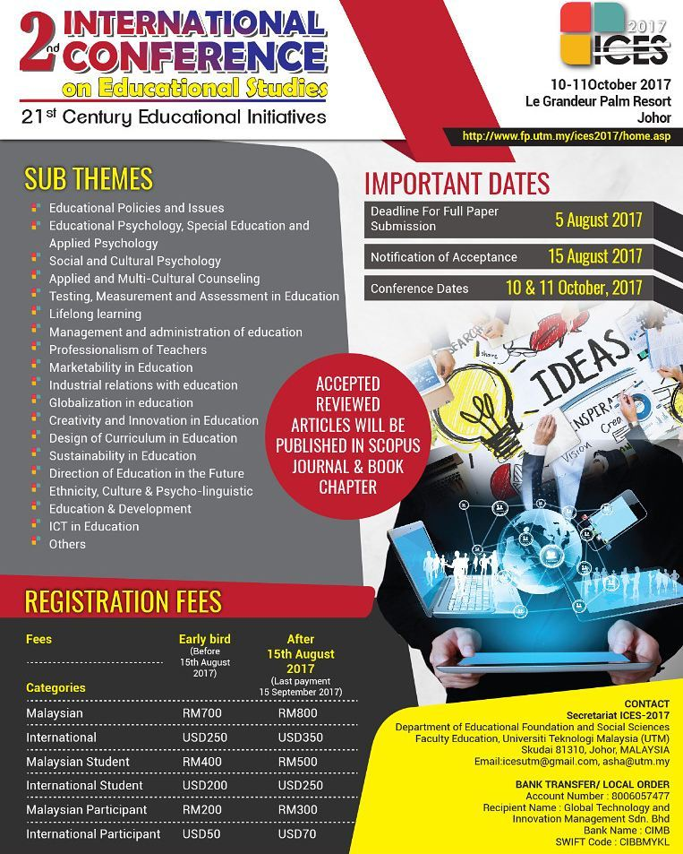 2nd International Conference on Educational Studies 2017