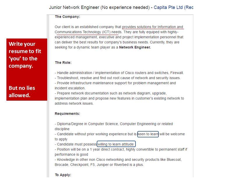 Deconstructing a job ad   Hazinah Kutty Mammi