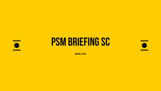 PSM Briefing Sem11920