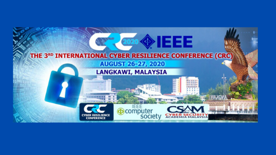 The 3rd International conference on Cyber Resilience (CRC2020)