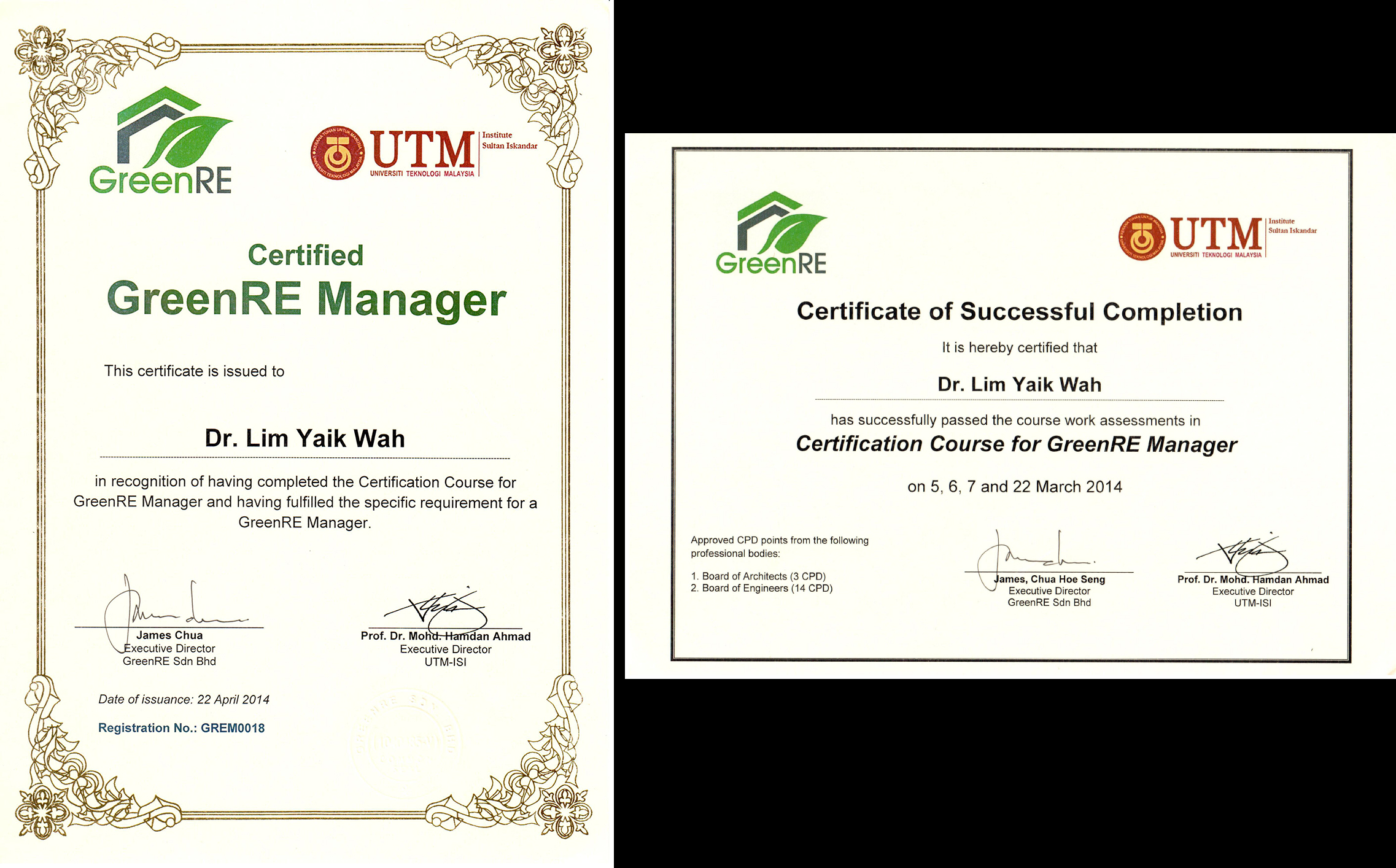 Greenre Manager Certification