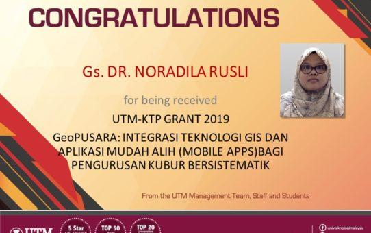 CONGRATULATIONS: UTM-KTP GRANT