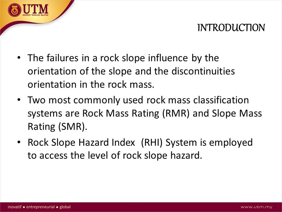 Slope stability assessment at Jalan Kuari