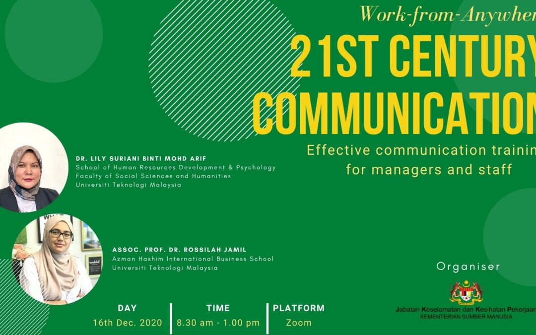 Workplace relationship through 21st century communication
