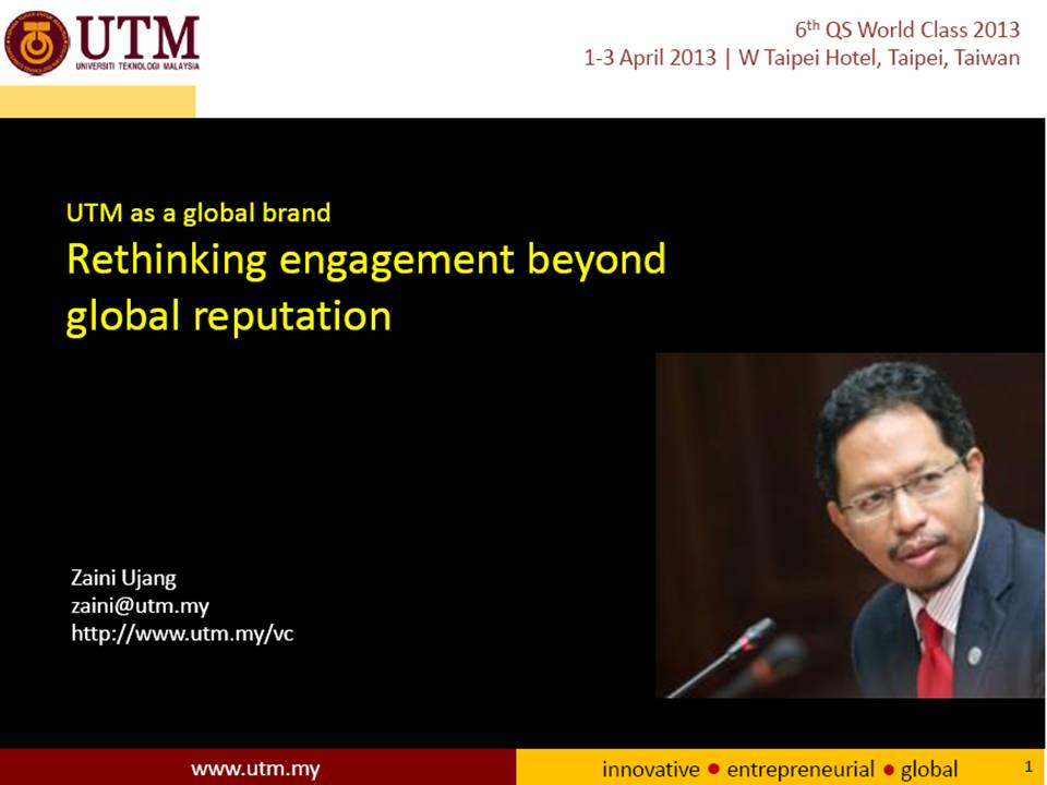 UTM as a global brand: Rethinking engagement beyond global reputation